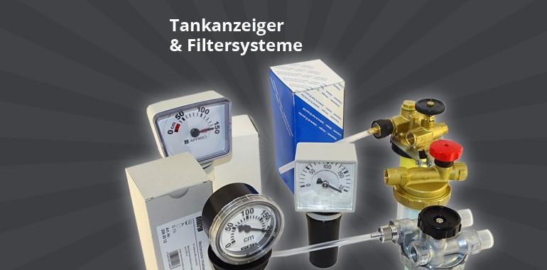 Tankanzeiger und Filtersysteme
