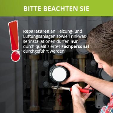Reparaturen nur durch qualifiziertes Fachpersonal ausführen lassen.