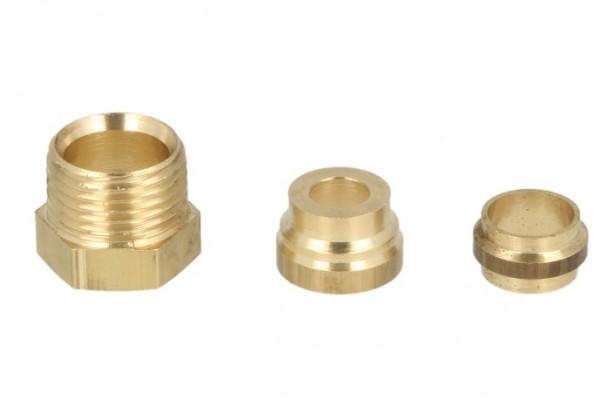 """Anschlußsatz Heizölfilter, Oventrop, 3/8"""" x 10 mm, 2-fach"""