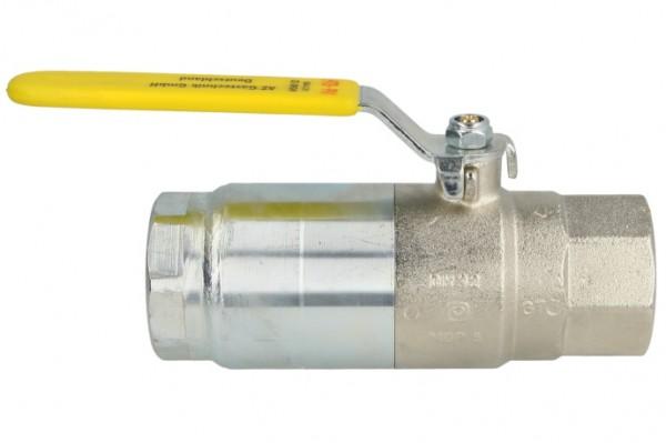"""Kugelhahn, Gas, 1 1/4"""", mit thermisch auslösendem Sicherheitsventil"""