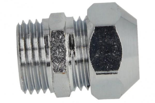Gerade-Quetschverschraubung, eins. QV 1/2 x 12 mm, verchromt