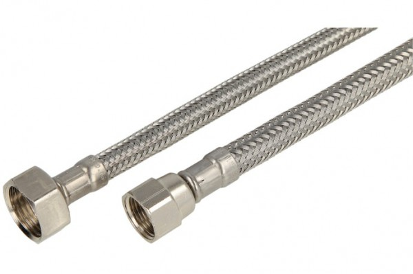 """Verbindungsschlauch 500mm (DN 8) 3/8"""" Mutter verdrehsicher x 1/2"""" Mutter"""