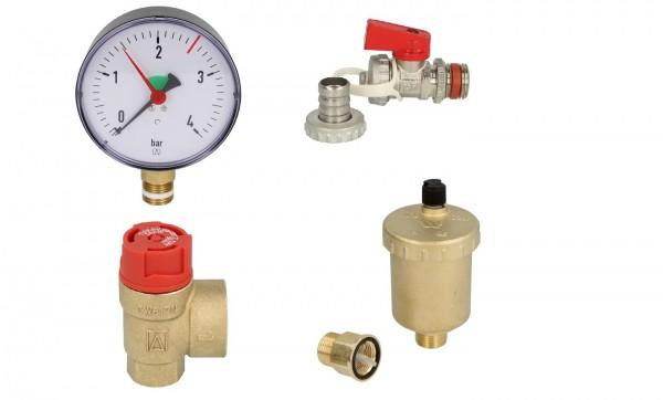 Wartungsset Ersatzteil Kit für Heizungsanlagen Schnellentlüfter,Sicherheitsventil,KFE-Hahn