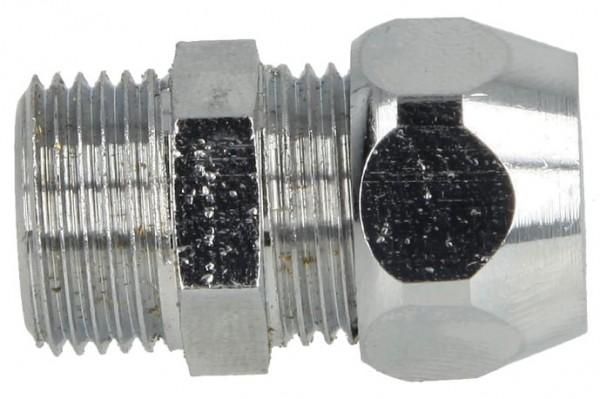 """Gerade-Quetschverschraubung, eins. QV 3/8"""" x 8 mm, verchromt"""