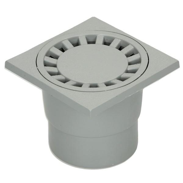 Bodenablauf universal 100 x 100 mm grau/beige
