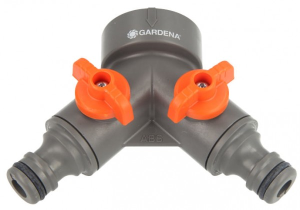 """Gardena 2-Wege-Ventil G 1"""" 33,3 mm Systemteil;Nr. 940-20"""