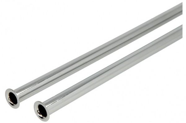"Kupferrohr 500 mm x Ø 10 mm, verchromt beidseitger Bördelrand 3/8"" x 1/2"""