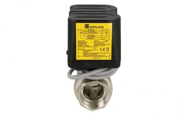 """Motor-Kugelhahn, DN 15-1/2"""", 230 V 3,5VA 10 Nm, 90°/60 sec, IG x IG"""