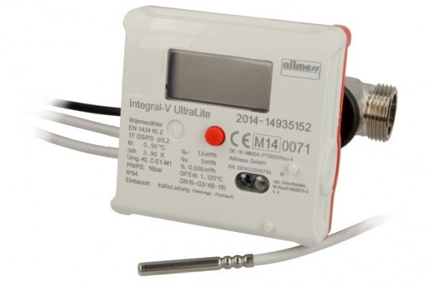 Allmess Ultraschallwärmezähler UltraLite 1,5 5,2 mm,Nr.561423000706