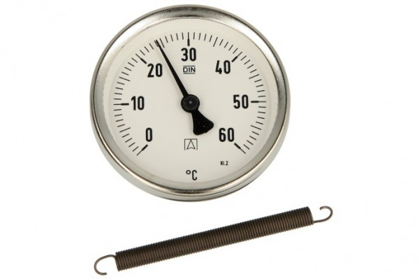 Bimetall-Anlegethermometer, 0 - 60 °C, Gehäuse 63 mm, ATh 63 F-S