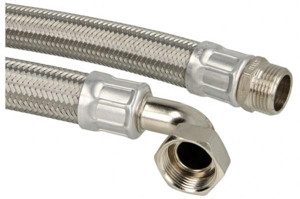 """90° Winkel-Verbindungsschlauch 800mm 1"""" AG x 1"""" Mutter (Bogen) (DN 25)"""